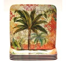 "Sunset Palm 8.5"" Salad Plate (Set of 6)"