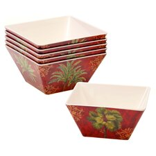 "Sunset Palm 6"" Ice Cream Bowl (Set of 6)"