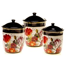 Garden View 3 Piece Canister Set