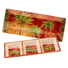 Sunset Palm 2 Piece Appetizer Set