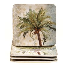 "Key West 8.25"" Square Dessert Plate (Set of 4)"