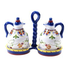 Amalfi 3 Piece 10 oz. Oil and Vinegar Set