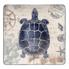 "Coastal Postcards 14.5"" Square Platter"