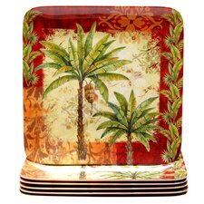 Sunset Palm Dinnerware Set
