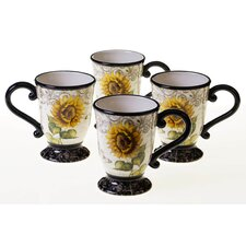 French Sunflowers 16 oz. Mug (Set of 4)