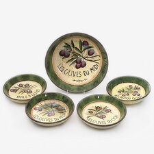 Garden of Olives by Susan Winget 5 Piece Pasta Set