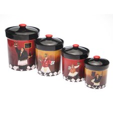 Bistro 4 Piece Canister Set