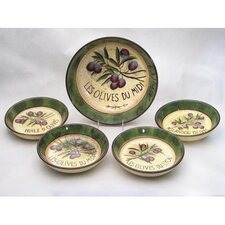 <strong>Certified International</strong> Garden of Olives by Susan Winget 5 Piece Pasta Set