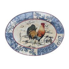 "<strong>Certified International</strong> Lille Rooster by Geoffrey Allen 18.38"" Oval Platter"