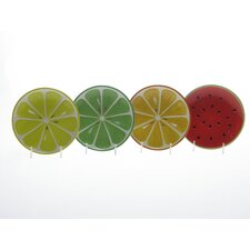 Fruit Salad by Robin Pickens 3-D Canape Plate (Set of 4)