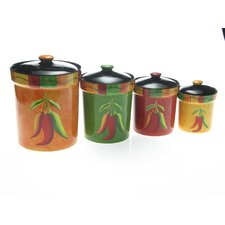 Caliente by Joy Hall 4 Piece Canister Set