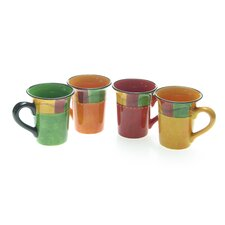 <strong>Certified International</strong> Caliente by Joy Hall 16 oz. Mug (Set of 4)