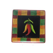 "<strong>Certified International</strong> Caliente by Joy Hall 12.5"" Square Platter"
