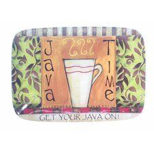 "Java Time by Lisa Kaus 14"" Rectangular Platter"