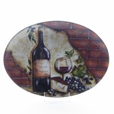 "<strong>Certified International</strong> Wine Cellar by Tre Studios 16"" Oval Platter"