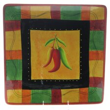 "Caliente by Joy Hall 14.5"" Square Platter"