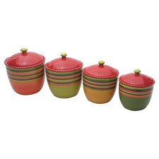 <strong>Certified International</strong> Hot Tamale Canister with Lid (Set of 4)