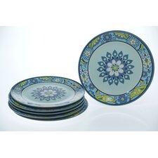 "Capri Blue by Jennifer Brinley 11"" Plate (Set of 6)"