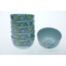 "<strong>Certified International</strong> Capri Blue by Jennifer Brinley 5.75"" Bowl (Set of 6)"