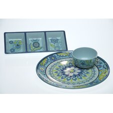 <strong>Certified International</strong> Capri Blue by Jennifer Brinley Chip and Dip Serving Set