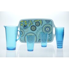 Capri Blue by Jennifer Brinley 8-Piece Serving Set