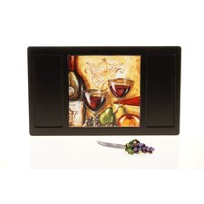 Wine and Cheese Party Cheese Board with Ceramic Tile and Knife