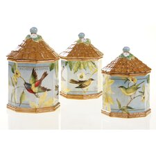 <strong>Certified International</strong> Botanical Birds Canister (Set of 3)