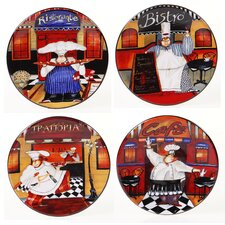 "Trattoria 6"" Canape Plate (Set of 4)"