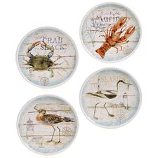 "Beach Cottage 11"" Dinner Plate (Set of 4)"