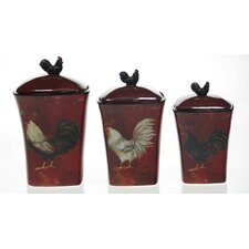 Avignon Rooster Canister (Set of 3)