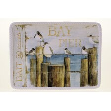 "Beach Cottage 15"" Rectangular Platter"