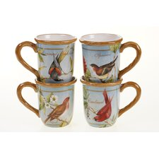Botanical Birds 16 oz. Mug (Set of 4)