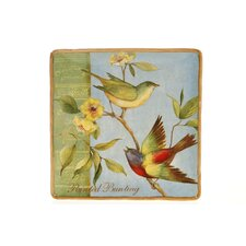 "<strong>Certified International</strong> Botanical Birds 14.25"" Square Platter"
