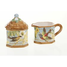 Botanical Birds 12 oz. Sugar and Creamer Set
