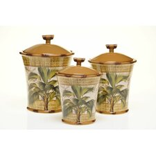<strong>Certified International</strong> Las Palmas Canister (Set of 3)