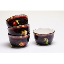 "Chili Pepper 5.25"" x 3"" Ice Cream Bowl (Set of 4)"