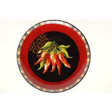 "Chili Pepper 14.75"" Round Platter"