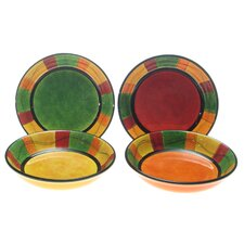 <strong>Certified International</strong> Caliente by Joy Hall Soup/Pasta Bowl (Set of 4)