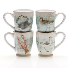 Beach Cottage 17 oz. Mug (Set of 4)