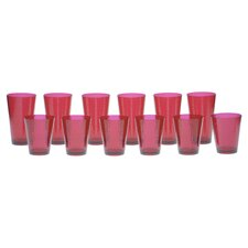 12 Piece Hammered Drinkware Set
