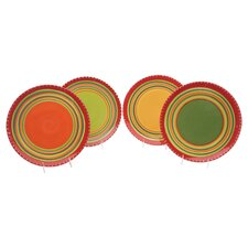 <strong>Certified International</strong> Hot Tamale Dinner Plates (Set of 4)