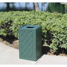 22 Gallon Square Trash Receptacle