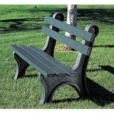 High Back Plastic Park Bench