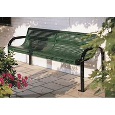 Perforated Contour Metal Garden Bench