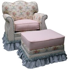 Blossoms and Bows Adult Empire Glider Rocker