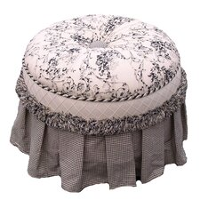 Toile Black Adult Princess Ottoman