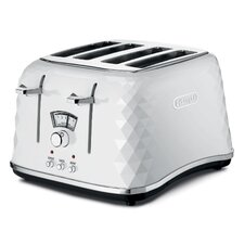 Brillante Faceted Toaster in White