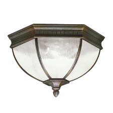 Warrington 2 Light Outdoor Flush Mount