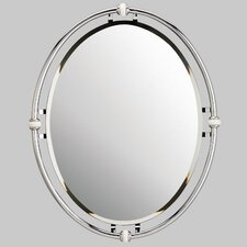 "30"" H x 24"" W Oval Beveled Mirror"