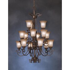 <strong>Kichler</strong> Larissa Indoor 15 Light Chandelette